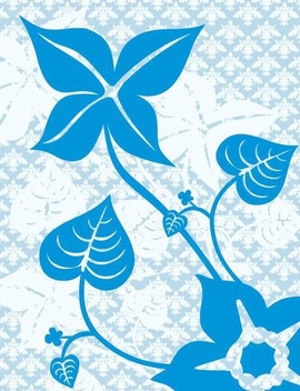 Flower Plant on Floral Pattern - Kostenloses vector #348523
