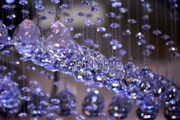 Beautiful purple crystals hanging - Free image #348573