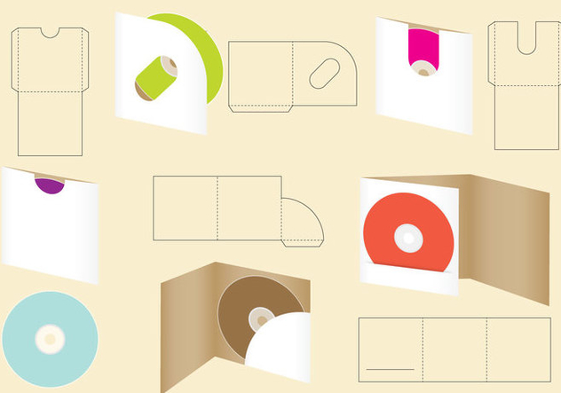 Die Cut Cd Envelope - Free vector #348733