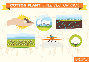 Cotton Plant Free Vector Pack - Kostenloses vector #348813