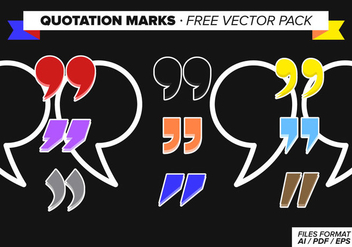 Quotation Marks Free Vector Pack - Kostenloses vector #348833