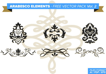 Arabesco Elements Free Vector Pack Vol. 2 - Free vector #348863