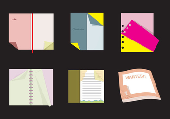 Books with Flipped Page Vectors - Kostenloses vector #348873