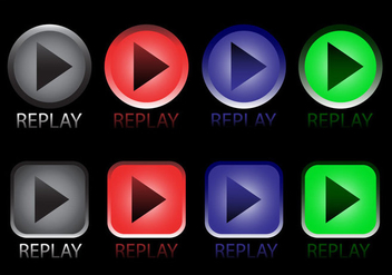 Replay Icon Vectors - vector gratuit #348973