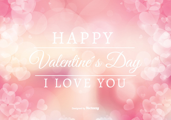 Abstract Style Valentine's Day Illustration - Free vector #349003
