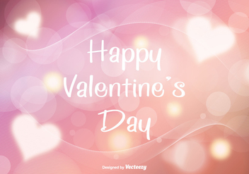 Abstract Valentine's Background Illustration - vector #349023 gratis