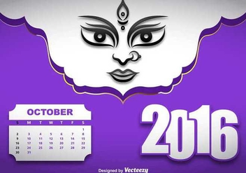Durga puja vector illustration - Free vector #349053