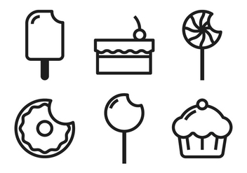 Cake Pop Icons - vector #349163 gratis
