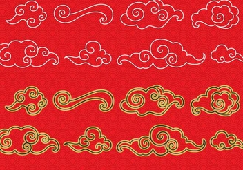 Chinese Cloud Vectors - бесплатный vector #349323