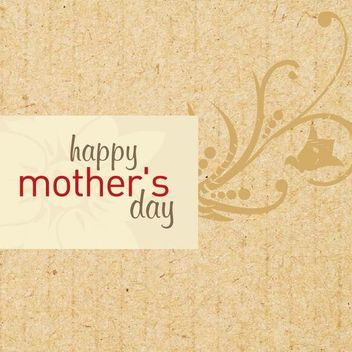 Mothers Day Wooden Texture Card - vector gratuit #349473