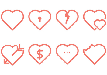 Heart Line Icon - vector gratuit #349483