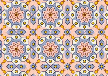 Arabic Pattern Background Vector - Free vector #349493