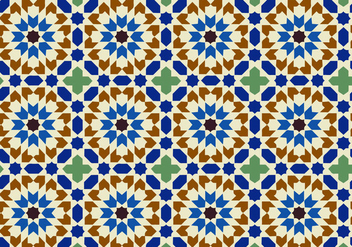 Moody Moroccan Pattern Background Vector - vector gratuit #349513