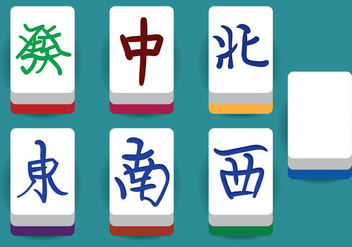 Mahjong Vector Elements - vector gratuit #349553