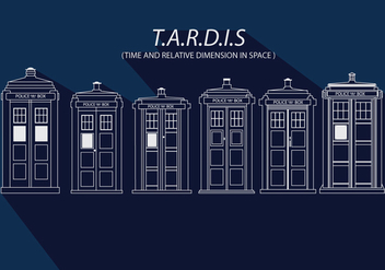 Tardis Simple Vector - Free vector #349573