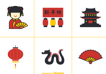 Free China Town Vector Elements - Free vector #349603