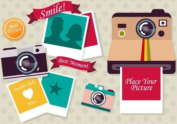 Photo Collage Vector Template - vector gratuit #349693