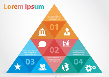 Colorful Pyramid Chart - vector gratuit #349723