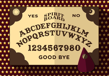 Ouija Board Vector Illustration - Kostenloses vector #349753
