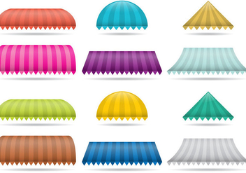 Striped Awnings - Free vector #349783
