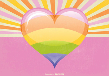 Retro Style Heart Vector Illustration - Kostenloses vector #349823