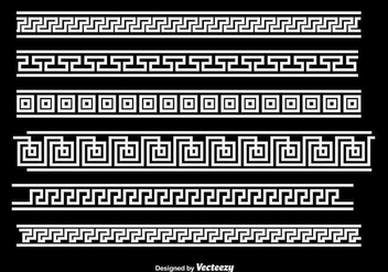 Greek Key White Border Vectors - Free vector #349883