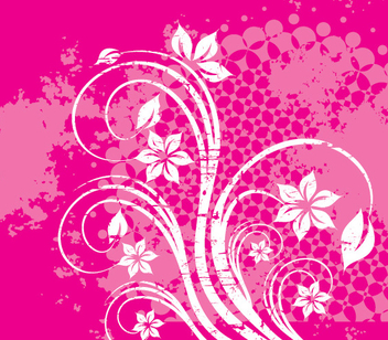 Flower Grunge Swirls Decoration - vector gratuit #349903