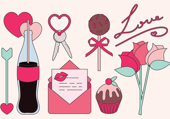 Vector Valentine's day Objects - vector gratuit #350013