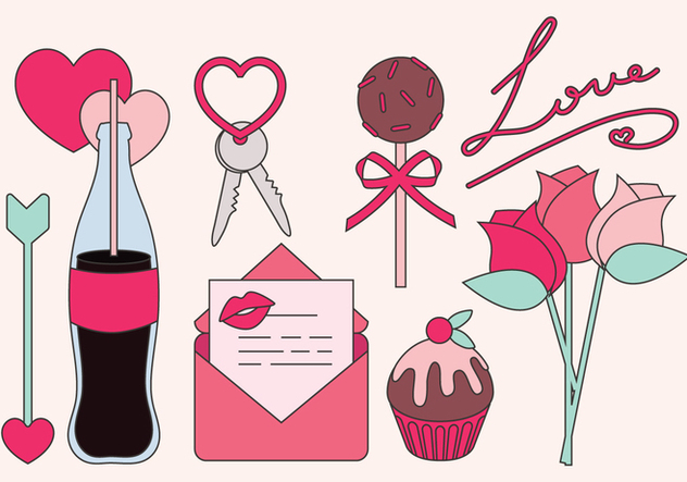 Vector Valentine's day Objects - Free vector #350013