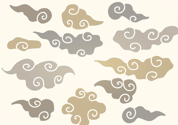 Vector Chinese Clouds - Kostenloses vector #350023