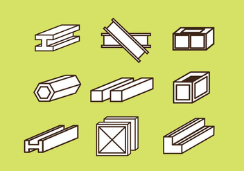 Free Steel Beam Vector Icon - vector gratuit #350093
