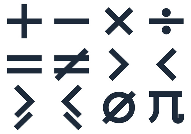 Basic Math Symbols Vectors Free Vector Download 350103 Cannypic