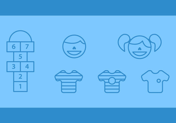 Free Hopscotch Vector Icons #2 - бесплатный vector #350163