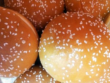 bun with sesame hamburger, fast food, bread - бесплатный image #350253