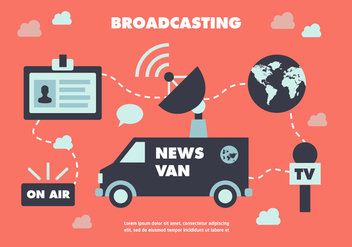 Free Flat News Journalist Vector Background - Free vector #350353