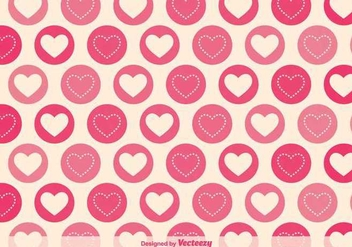 Geometric Hearts Vector Pattern - Free vector #350403