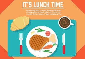 Free Vector Lunch Illustration - бесплатный vector #350473