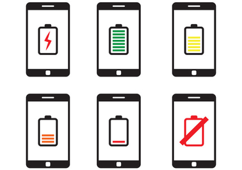 Phone Battery Icon - Free vector #350513