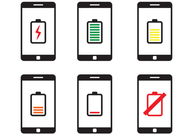 Phone Battery Icon - vector gratuit #350513