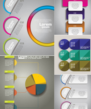 Business Infographic Template Pack - vector #350583 gratis