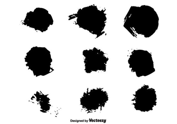 Brush Stroke Vectors - Free vector #350613
