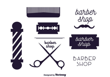 Vector Set of Barber Labels - vector #350643 gratis