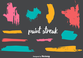 Paint Streak Vector - бесплатный vector #350693