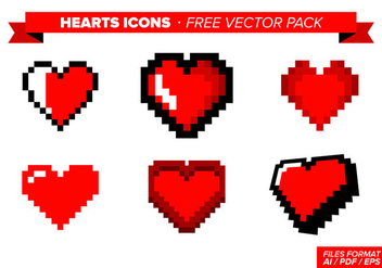 Heart Icons Free Vector Pack - бесплатный vector #350713