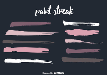 Colorful Paint Streak Vector - vector gratuit #350733