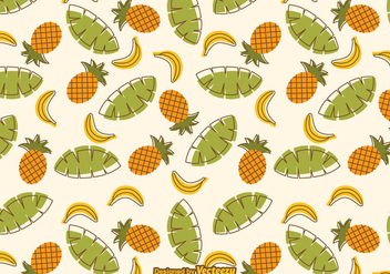 Free Tropical Fruit Vector Pattern - Free vector #350843