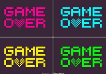 Free Pixel Game Over Vector - vector gratuit #350853