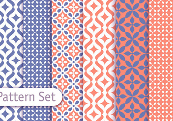 Colorful Arabic Pattern Set - vector #350913 gratis
