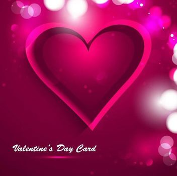 Pink Heart Creative Valentine Card - Free vector #351113