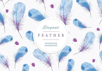 Creative Watercolor Feathers Background - vector gratuit #351363